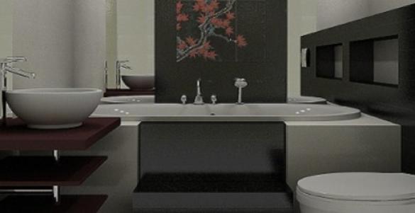 Японский стиль в ванной комнате