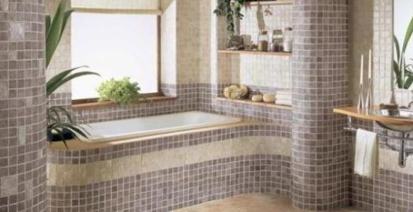 Мозаика для дизайна ванной комнаты